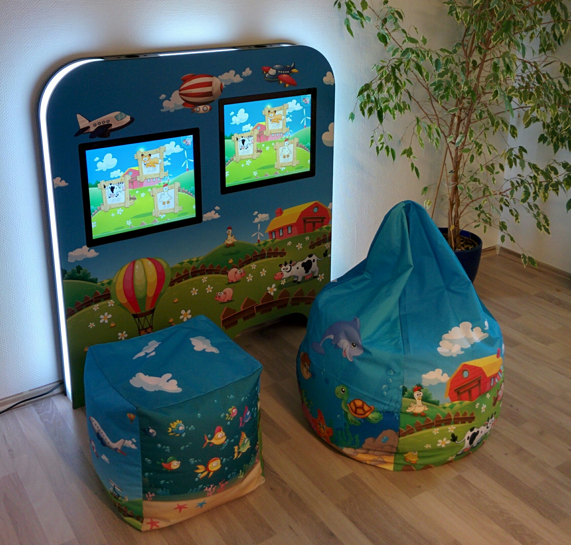Magic Wall Deluxe Double im Set mit Cube und BeanBag
