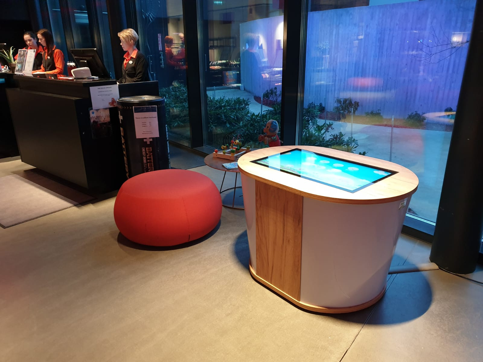 Magic Play Table Deluxe in der Lobby des Hotel Torni, Tampere (Finland)