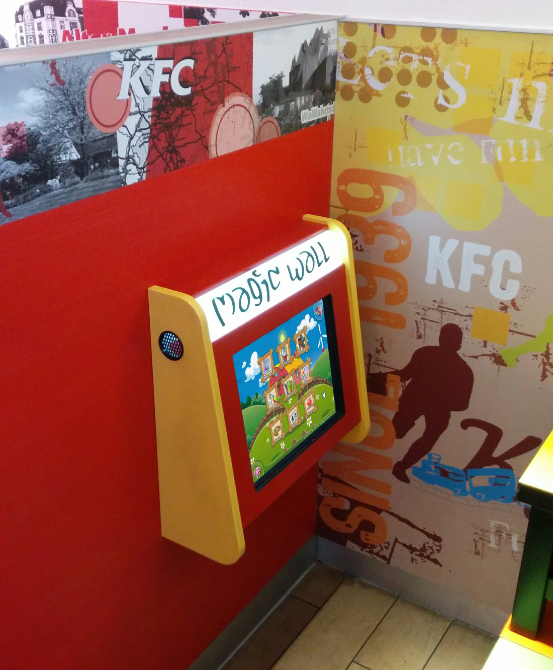 Magic Wall 17'' bei Kentucky Fried Chicken Restarurant