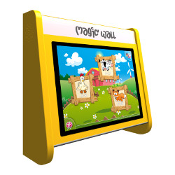 Kinderterminal Magic Wall gelb 19''